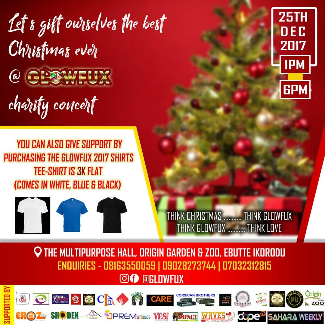 ALL IS SET FOR GLOWFUX 2017 CHRISTMAS CHARITY CONCERT IN IKORODU